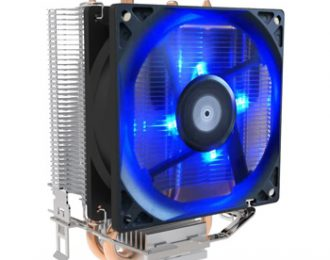 EUROTECH ICE200 COOLER CPU 2PIPES 90MM PWM BLUE 92X62X129MM
