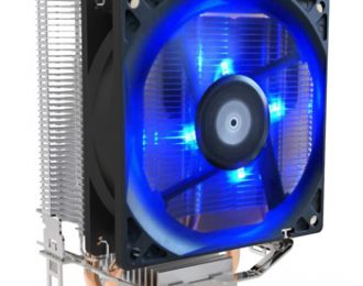 EUROTECH ICE250 COOLER CPU 2PIPES 90MM PWM BLUE 115X75X130MM