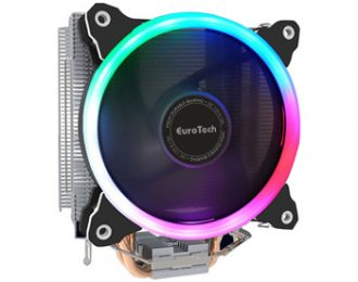 EUROTECH ICE600 COOLER CPU 6PIPES 120 PWM RGB 128X80X155MM