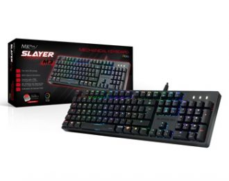GAMER RGB MECâNICO – MKPLUS SLAYER M3, SW:RED