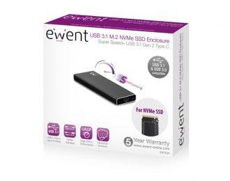 Caixa Externa M.2 Ewent USB-C 3.1 Gen2 NVMe SSD – EW7024