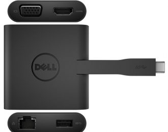 DELL ADAPTER USB-C TO HDMI/VGA/ETHERNET/USB 3.0 DA200