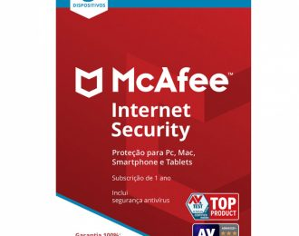 McAfee Internet Security 3 PCs 1 Ano