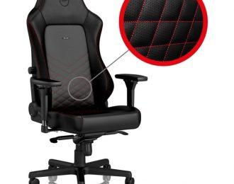 Cadeira noblechairs HERO PU Leather Preto / Vermelho – NBL-HRO-PU-BRD