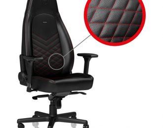 Cadeira noblechairs ICON PU Leather Preto / Vermelho – NBL-ICN-PU-BRD