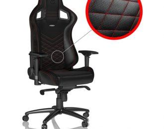 Cadeira noblechairs EPIC PU Leather Preto / Vermelho –