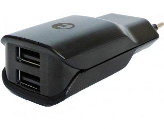 Eurotech Carregador Universal 2 Portas USB AC 100/220V DC 5V/2.4A, Preto