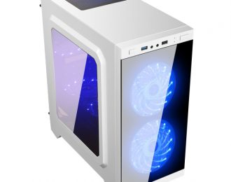 UNYKA MICRO ATX GAMING C21 TEMPERED GLASS WHITE S/FONTE