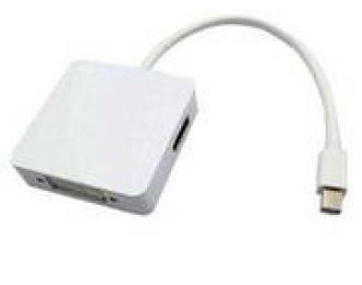 CONVERSOR MINI DP M PARA HDMI A F+DVI F+DP F BRANCO – NBA410